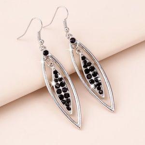 Any 2/$20 Silver/Black Crystal Drop Earrings